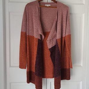 Colorblock waterfall sweater